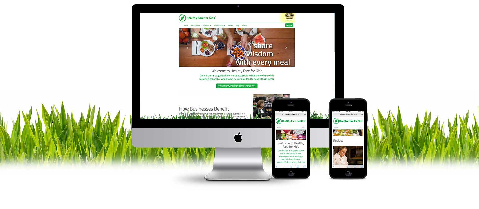 Healthy Fare for Kids website graphic user interface